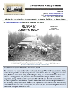GHHP Gazette - May 2020 cover