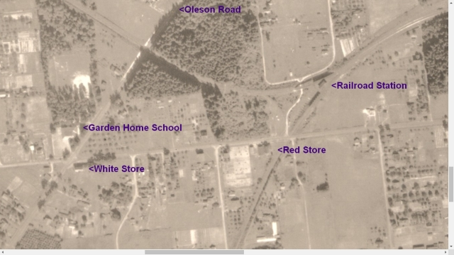 1936 Army Corps of Engineers Aerial Photo - Garden Home Railroad Station detail