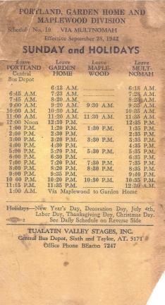 1942 bus schedule - side B