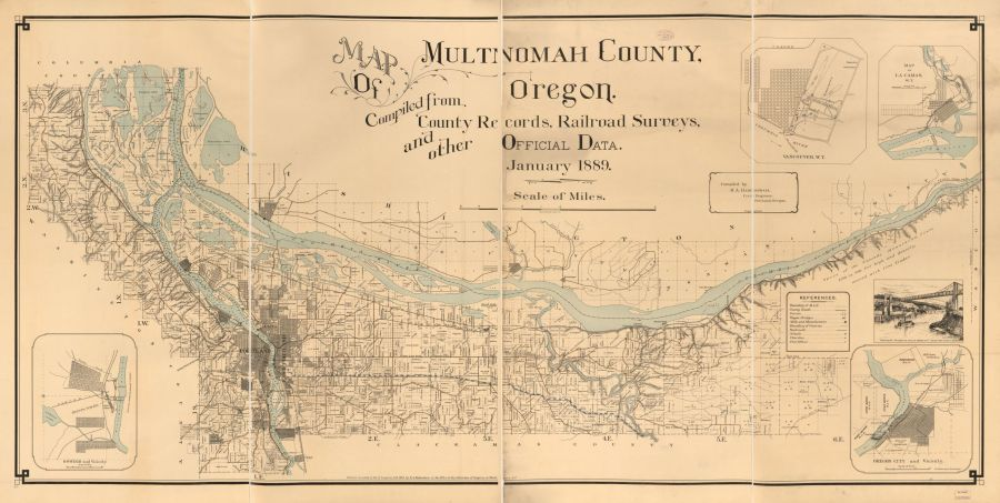 Map of Multnomah County 1889