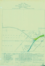 OER Right of Way Map 1908 - Garden Home Junction - OER Right of Way Map - Metzger to Greenberg - T1SR1WSect24