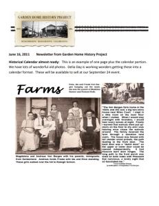 2011 June Newsletter