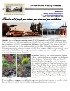 2016 August Newsletter