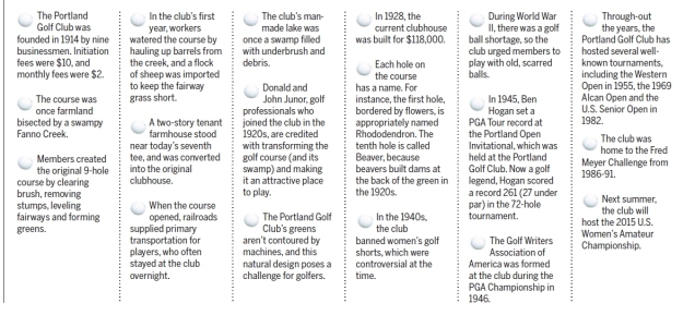 Portland Golf Club - 2014-03-12 Beaverton Leader article on history of the club (bottom half)