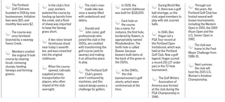 Portland Golf Club - 2014-03-12 Beaverton Leader article on history of the club (bottom half)