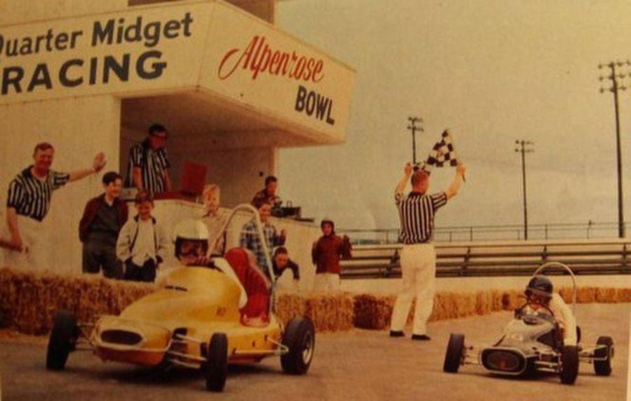 Quarter midget go-kart racing at Alpenrose