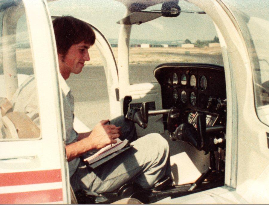 Randy in Plane - Portland Golf Club