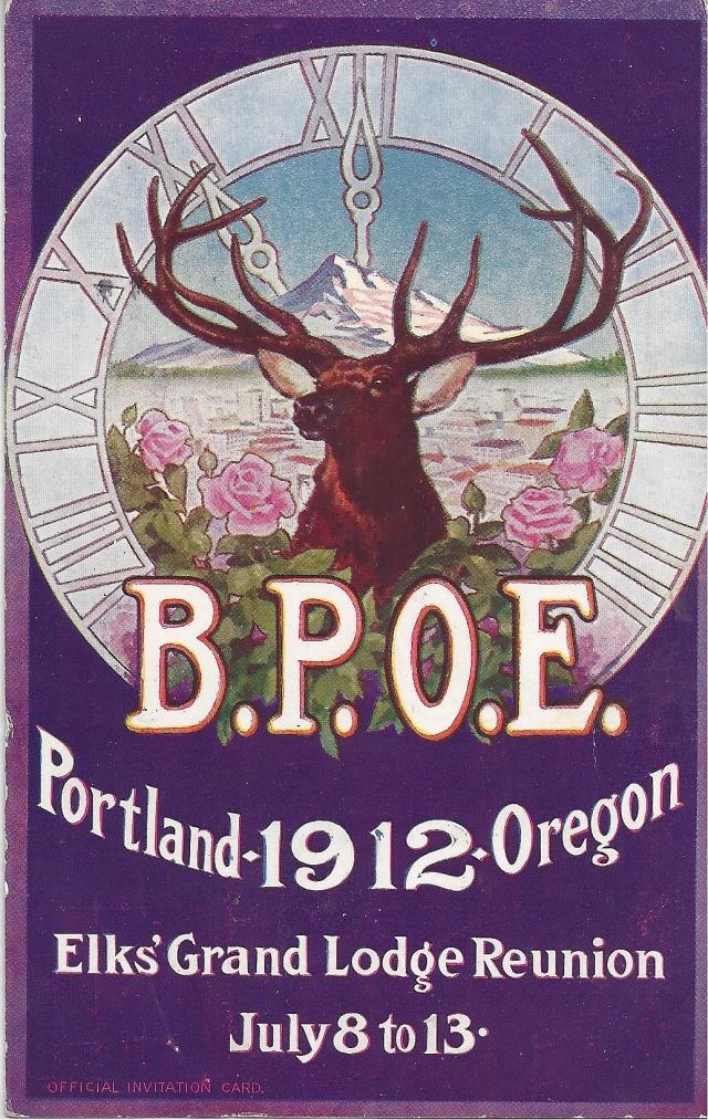1912 postcard BPOE invite - front