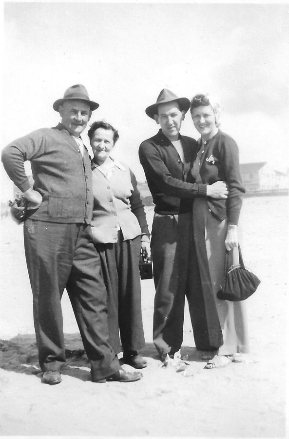 1937 Blosick family - Mr. and Mrs. Blosick, Julia and her husband