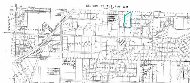Section 25 TIS plat map