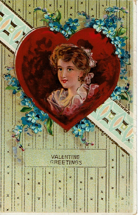 1915 Valentine's Day postcard to Vivian Tigard - front