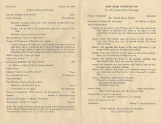 Old Community Church Parsonage Consecration, August 16, 1953 - inside