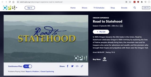 OPB - Road to Statehood