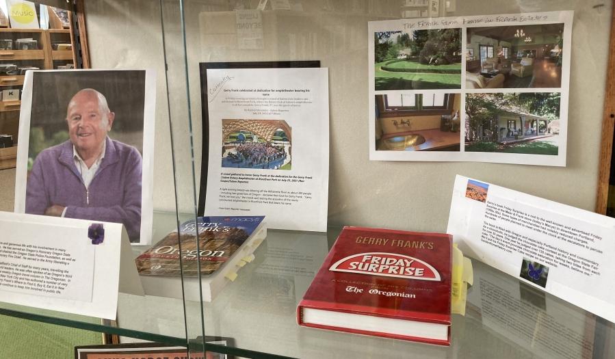Library Display October 2021 - shelf 2, Gerry Frank