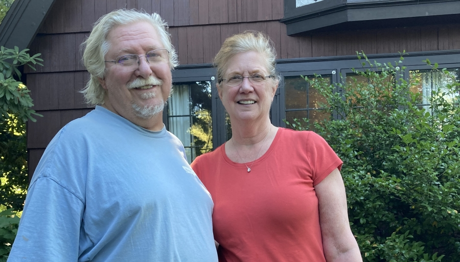 Tony Williams and Pam Price July 2021